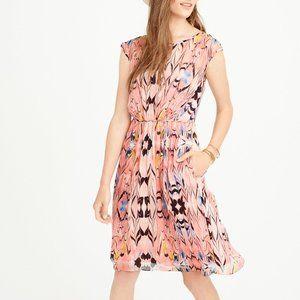 J Crew Marbled Silk Dress